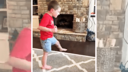 Wonderkind (5) zet zijn eerste stapjes ondanks prognose dat hij nooit zou wandelen