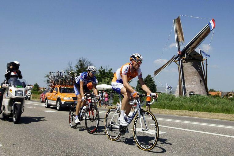Lars Boom had vooraf met Maarten Wynants afgesproken om in de aanval te gaan. Beeld UNKNOWN