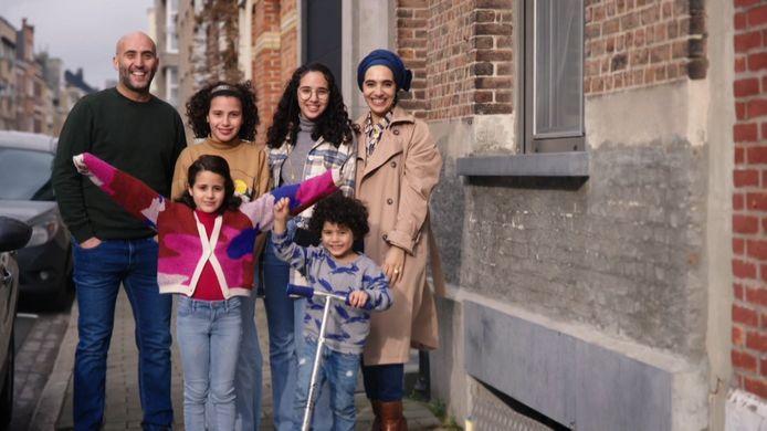 Het gezin van Rachid en Cherifa.