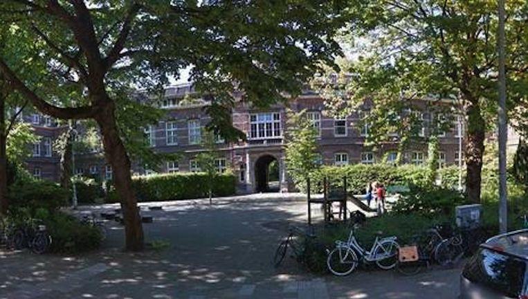 Het Helmersplantsoen, waar de verkrachting plaatsvond. Beeld Google Street View