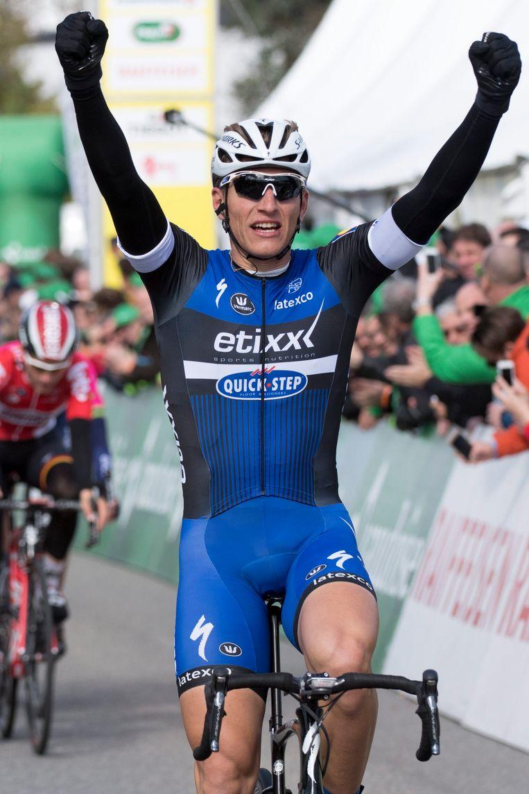 Marcel Kittel hoopt ook in de Giro de handen in de lucht te kunnen steken Beeld EPA