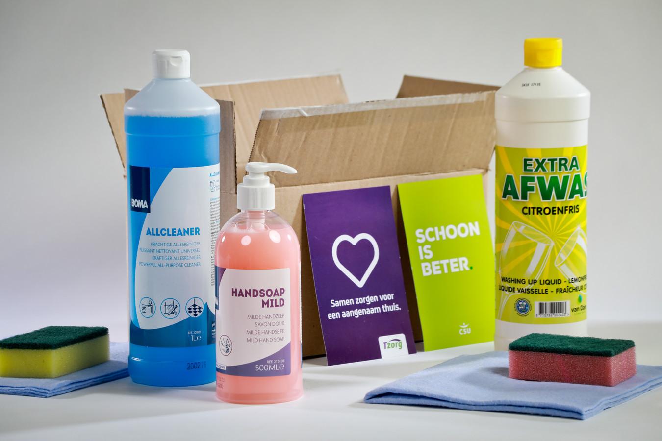 Schoonmaakbedrijf CSU schenkt 10.000 schoonmaakpakketten aan de Voedselbanken in Nederland.