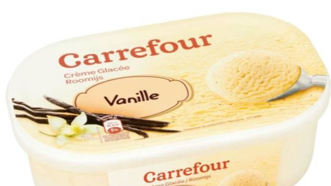Carrefour roept vanilleroomijs terug
