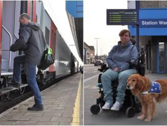 """Anneke ijvert al 20 jaar voor perronverhoging, komt het er nu eindelijk van? """"Op een dag wilde het personeel mij niet meer van de trein tillen. Sindsdien heb ik nooit meer de trein genomen"""""""