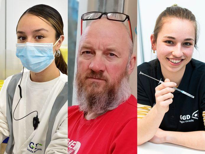 Dit zijn de mensen die ons vaccineren: Chiara Janzen, Jeroen Bus en Lenthe Klaassen.