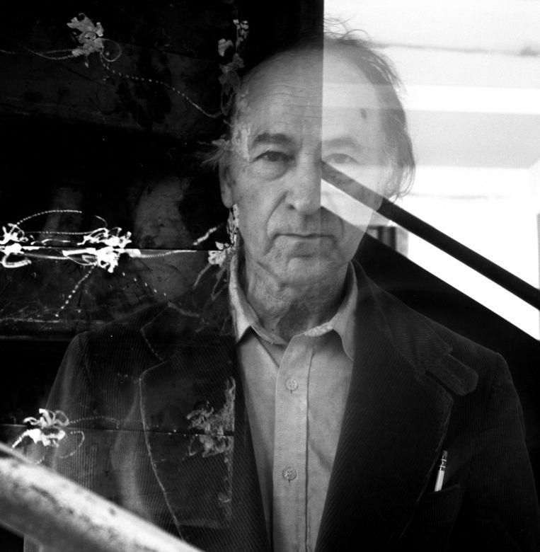Filmmaker Jonas Mekas, 1990 Beeld Getty Images