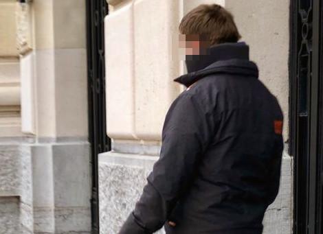 Jordi V.B. na zijn proces vorige maand.