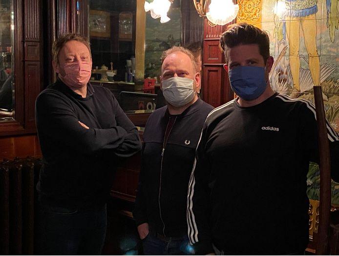 Benoît, Lode en Pieter van De Harmonie in Ronse.