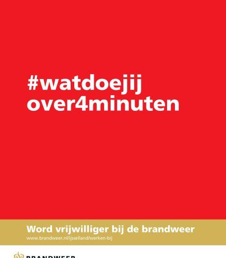 Brandweer IJsselland werft met campagne #watdoejijover4minuten nieuwe vrijwilligers