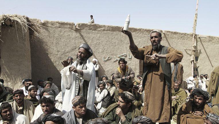 Afghaanse dorpelingen in de provincie Kandahar. Beeld ap