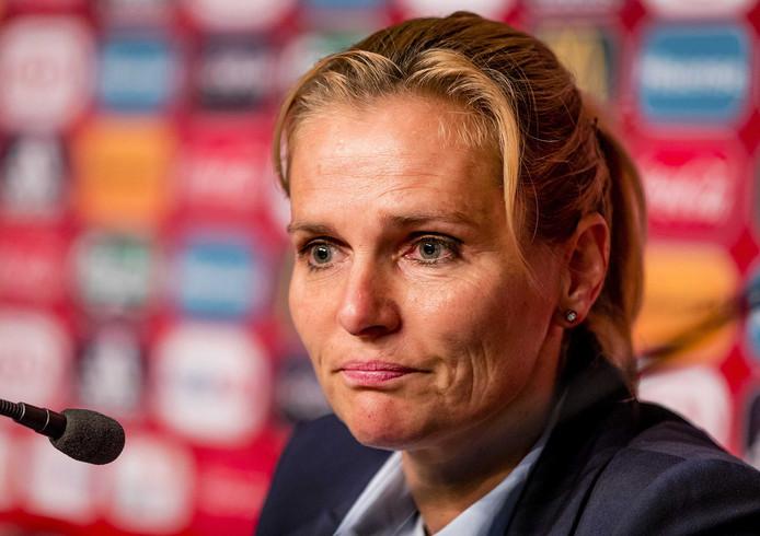 Bondscoach Sarina Wiegman.