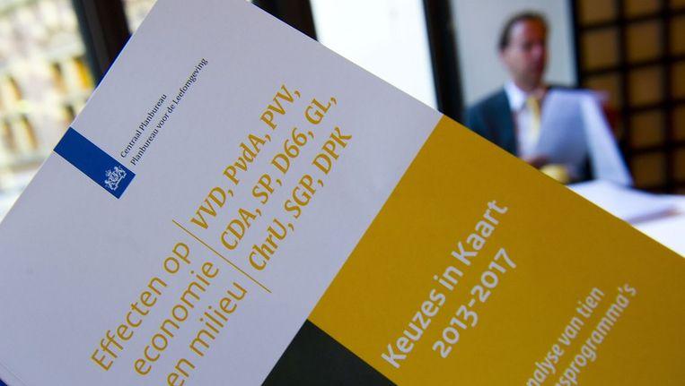 Het rapport van het Centraal Planbureau dat eerder deze week verscheen. Beeld anp