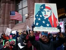 Protesten tegen Trump hebben eigen huisstijl