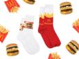 Fastfoodketen komt weer met modelijn: sokken met frietjes en hamburgers