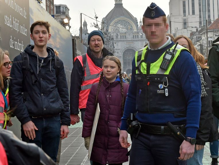 Greta Thunberg in Antwerpen Beeld Photo News