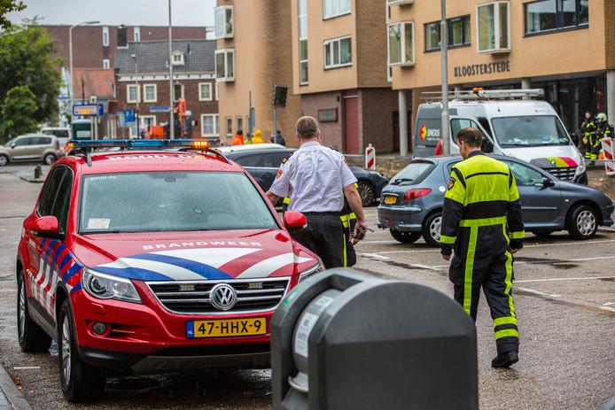 Gaslek in de Kloosterstraat in Roosendaal.