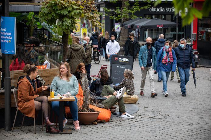 In de Hasseltse binnenstad is het dan weer rustiger.