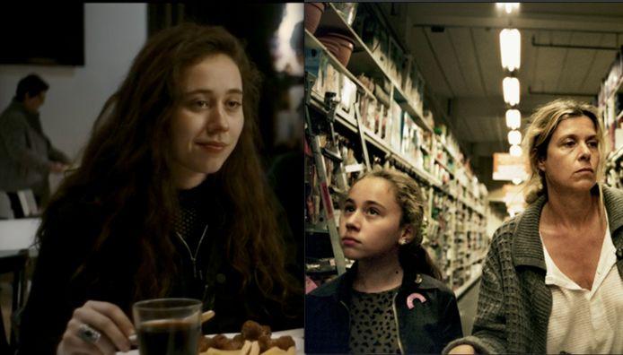 Sofia in De Twaalf (links) en dertien jaar eerder in Aanrijding in Mosou.