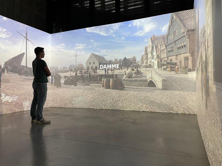 Op de expo 'Verdwenen Zwinhavens'. Beeld rv