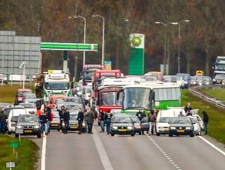 Actievoerders blokkeren snelweg om tegenstanders Zwarte Piet tegen te houden