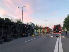 Hoge snelheid lijkt oorzaak kantelen truck op A348 bij Velperbroekcircuit