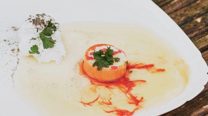 Een van de gerechten op de website.