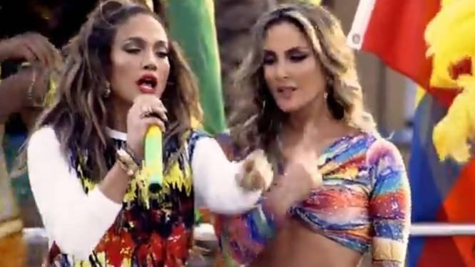 Jennifer Lopez draagt Belgische mode in WK-clip