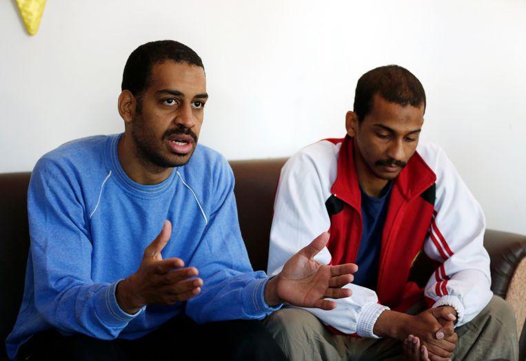Alexanda Kotey (links) en El Shafee Elsheikh.  Beeld AP