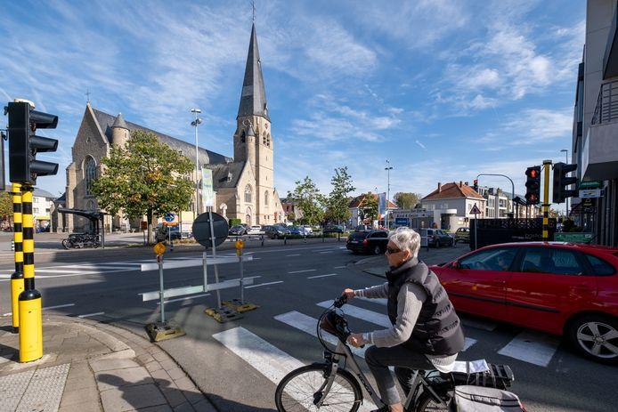Een archiefbeeld van het centrum van Bonheiden