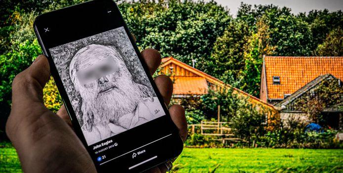 De Facebookpagina van de 67-jarige Gerrit Jan van B., de vader die met zes kinderen ondergedoken zat in een boerderij in Ruinerwold.