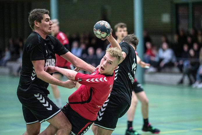 De handballers van Artemis'15 uit Doetinchem spelen volgend seizoen in de eerste divisie.