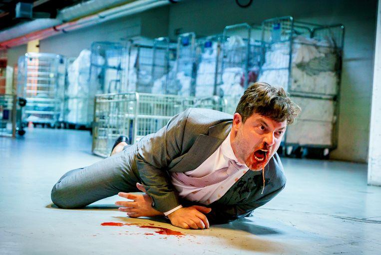 Geert Van Rampelberg als Danny Desmedt in 'De infiltrant'. Beeld De Infiltrant