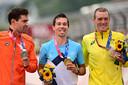 Tom Dumoulin, Primoz Roglic en Rohan Dennis.