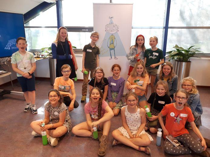 Kinderen uit de gemeente Heusden die een bijdrage aan de Kinderklimaattop hebben voorbereid.