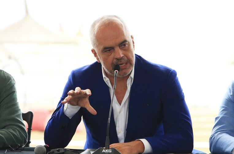 Edi Rama, premier van Albanië. Beeld AP