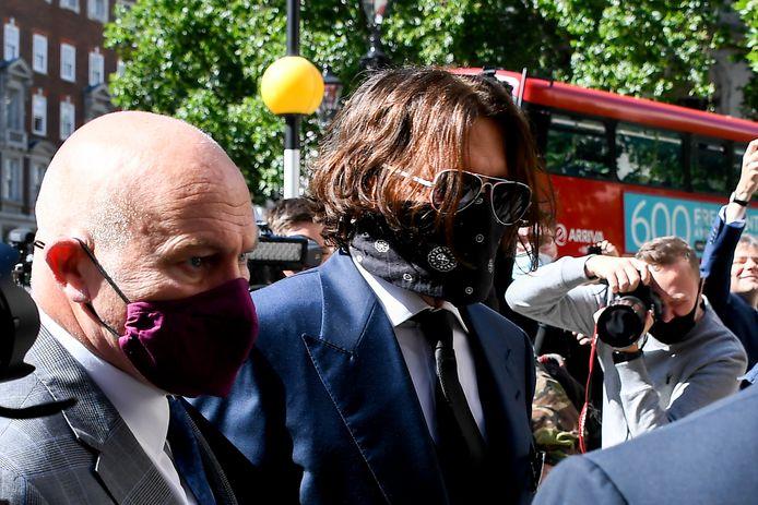Johnny Depp arrivant au procès.