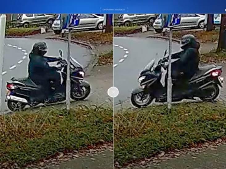 Scooterrijder die explosie veroorzaakte bij agent thuis nog altijd zoek: politie toont beelden