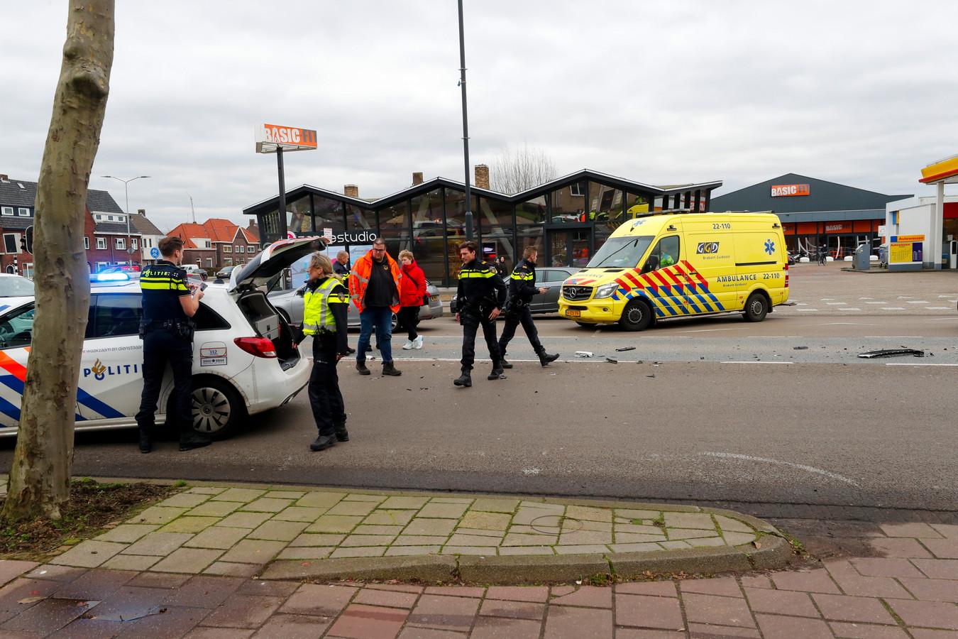 Foto van de botsing op de Aalsterweg.
