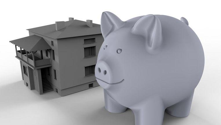 De meesten hebben naast hun spaarvarken nog een lening nodig om hun woondroom te kunnen realiseren. Beeld Shutterstock