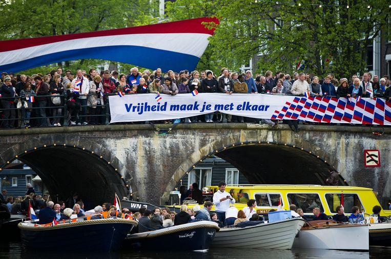 Bevrijdingsdag 2011 in Amsterdam. Beeld ANP