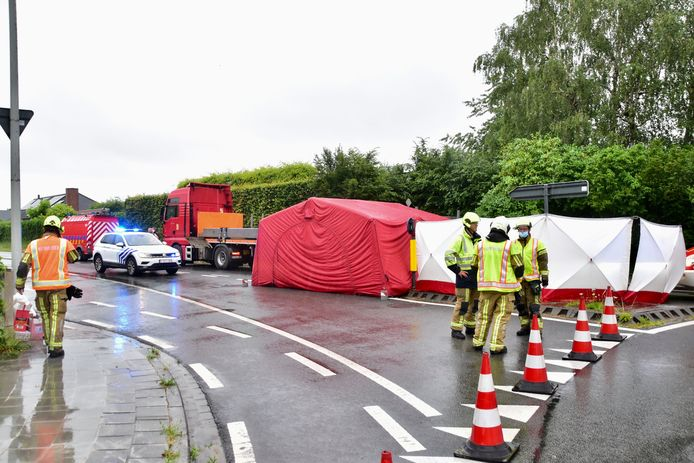 Bij een dodehoekongeval op de rotonde van de Bavikhoofsestraat met de Rijksweg in Harelbeke kwam bromfietser Eddy Van de Vijver (46) uit Zulte om het leven.