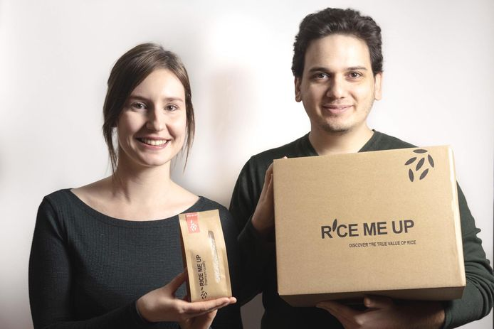 Annemie Struyf en Babak Khazaeli startten de webshop RiceMeUp zodat mensen zelf creatief leren koken met rijst.