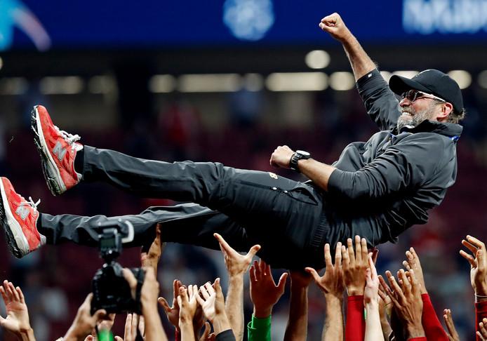 Jürgen Klopp na de gewonnen Champions League-finale van vorig jaar.
