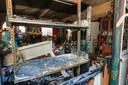 Veel schade door brand in kringloopwinkel Emmaus in Eindhoven.