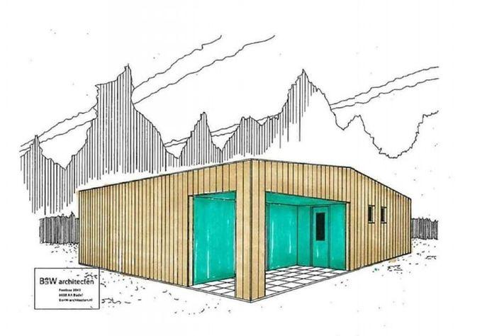 Ontwerp van één van de zeven tiny houses die in Oud-Beijerland zullen komen
