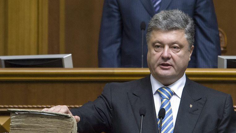 De Oekraïense president Porosjenko Beeld epa
