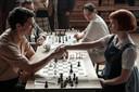 'De spanning op toernooien is goed nagebootst', zegt Bianca Muhren over The Queen's Gambit (foto).