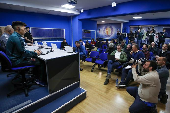 De persconferentie van Ajax met Erik ten Hag en Lisandro Martínez.