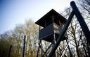 De wachttoren op het terrein van het voormalige Kamp Westerbork.