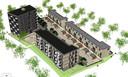 BrabantWonen wil 55 appartementen in twee blokken bouwen naast ROC De Leijgraaf aan de Euterpelaan in Oss. Erachter komen 19 rijtjeshuizen.